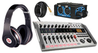 pro audio mixers, camera audio,