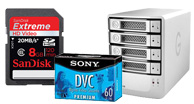 blank media & storage, memory cards, external hard drive