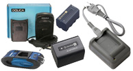 video camera batteries, rechargeable video camera batteries,
