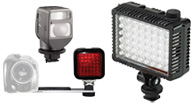 led shoe mount lighting, on camera lights, ring lights for video