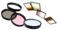 UV filter, Skylight filter, Haze Filters, Polarizing Filters, Neutral Density Filters, Color Correction Filters, Special Effect Filters, Close-Up Filters