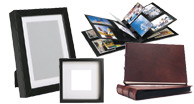 archival photo albums, picture frames, digital picture frames