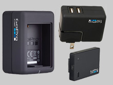 gopro batteries, go battery chargers, gopro wall charger,