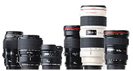 Wide Angle lenses,  Macro lens, Telephoto lens, Zoom lenses, Tilt Shift lens, Cine Style lenses, Creative Lenses,