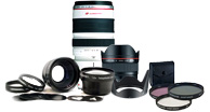 Camera Lenses, Cine Style Lenses, Auxillary Lenses, Large Format Lenses, Lens Cases & Pouches, Filters,