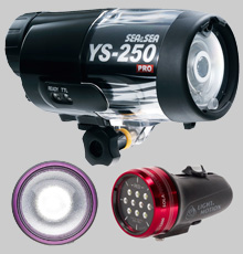underwater video lights, underwater led lights, underwater flash, underwater photography