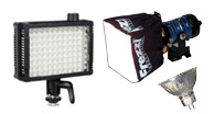 Video lighting, ring flash for video, mountable light for video, on camera light,