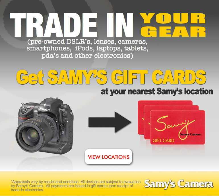 Samy's Camera Rental Department