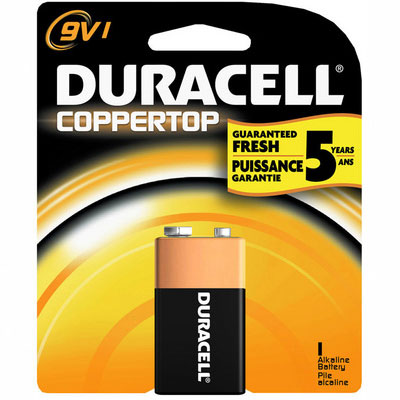 Image of Duracell 9v Alkaline General Purpose Coppertop Battery