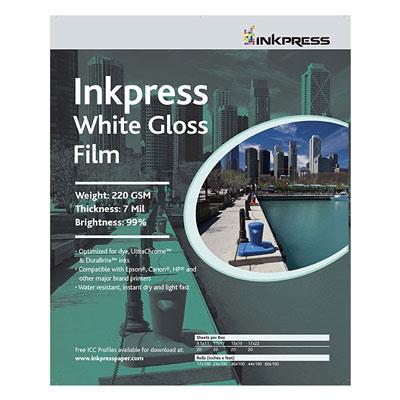 White Gloss Film - 11 x 17 - 20 Sheets