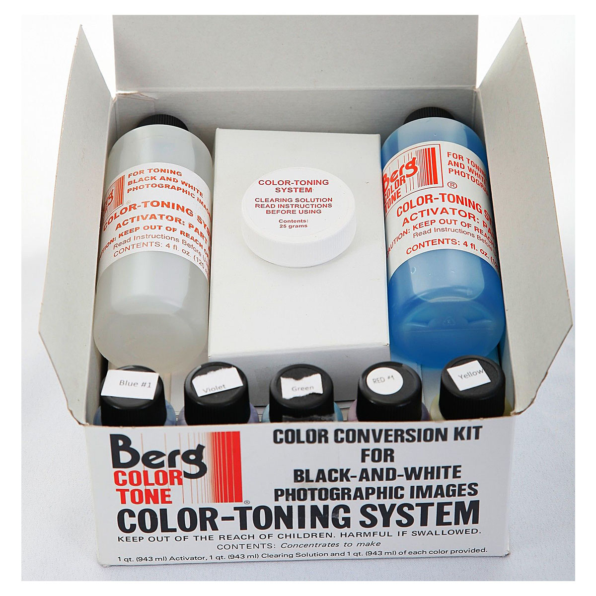 Standard 5-Color Toning Kit for Black  White Prints