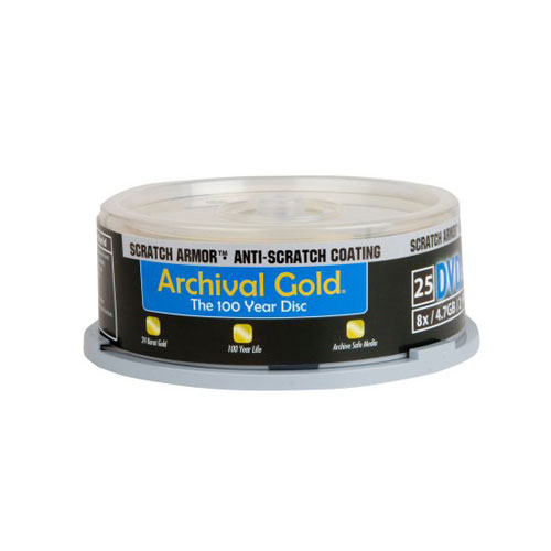 Archival Gold DVD-R 25-Pack Spindle
