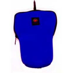 Large Wide Mouth Pouch Blue