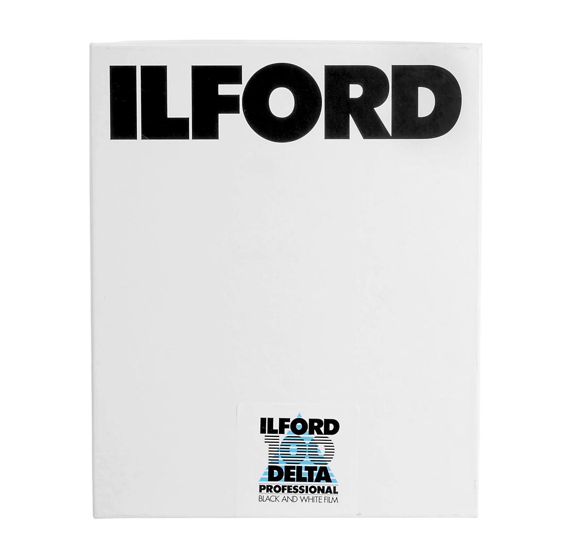 Image of Ilford Delta 100 B&W Negative Film 4 x 5 25 Sheets