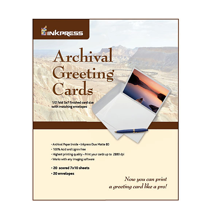 Archival Greeting Cards Pack (20 5x7in. Cards & Envelopes)