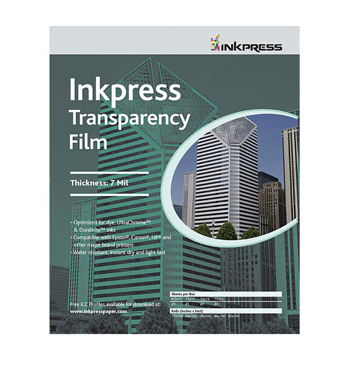 Transparency Film - 11x17in. - 20 Sheets