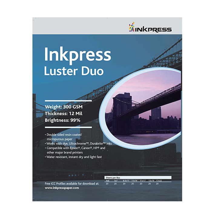 Photo Chrome RC Luster Duo Paper (4 x 6in., 20 Sheets)