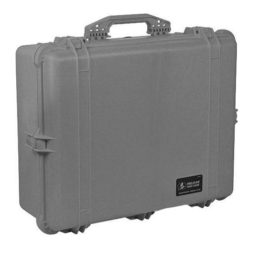 1600 Watertight Hard Case with Dividers - Silver Gray