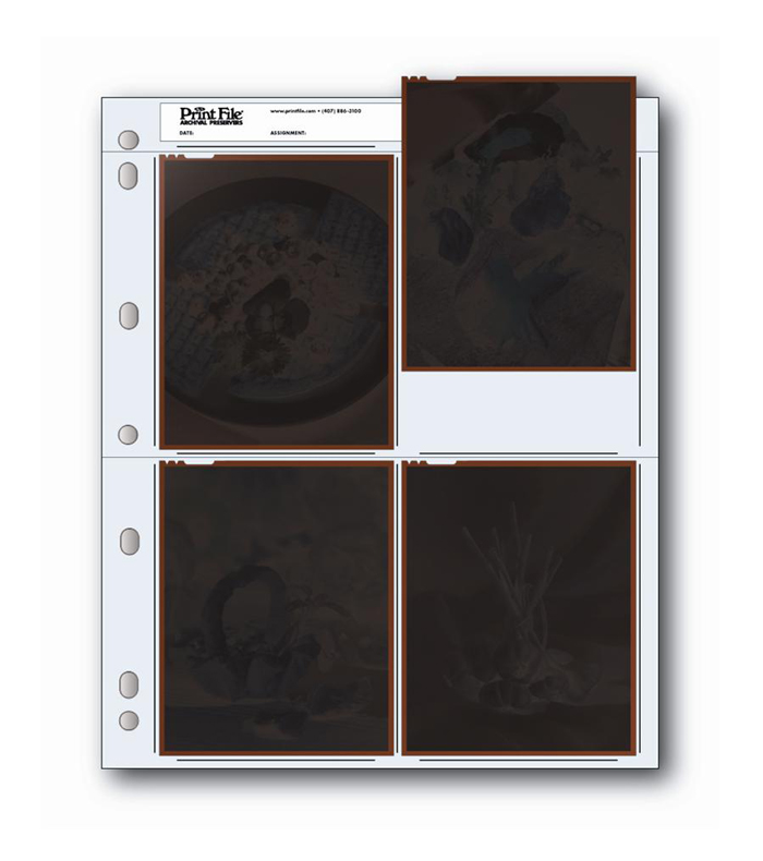 Image of Print File 45-4B Negative Page (Pack of 25)