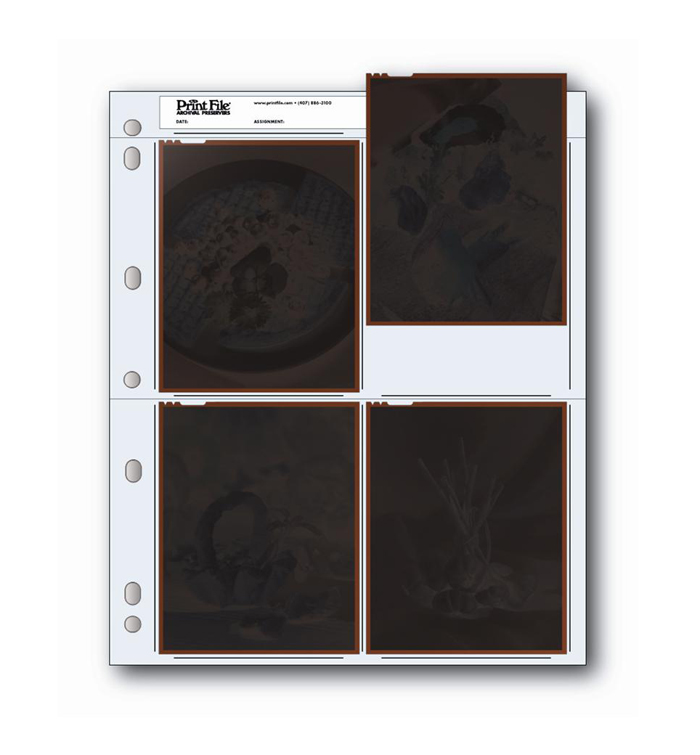 Image of Print File 45-4B Negative Pages (Pack of 100)