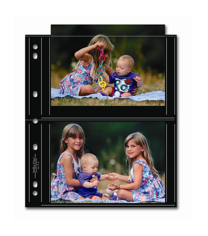 Image of Print File 57-4S Photo Page - Black (25 pack)