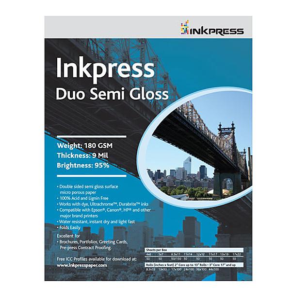 Media Duo Semi Gloss 4 x 6 in. 50 Sheets