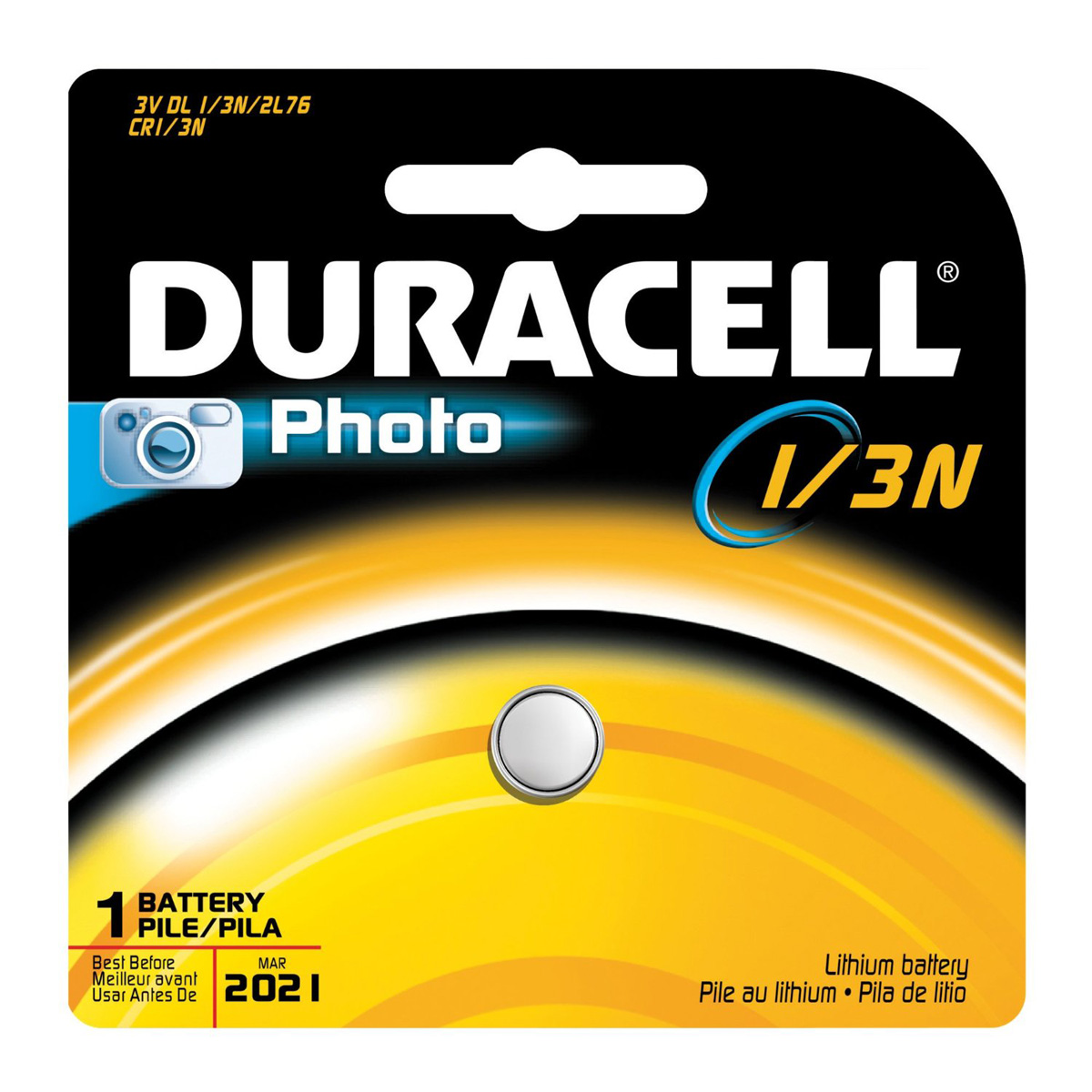 Image of Duracell 1/3NB Lithium Button Battery