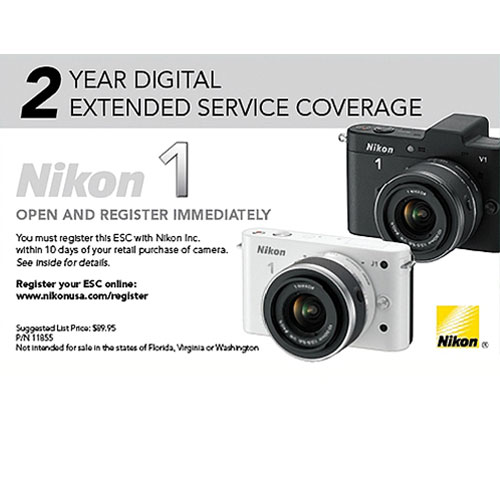 2 Year Extended Service Coverage for 1 J1  1 V1 Cameras