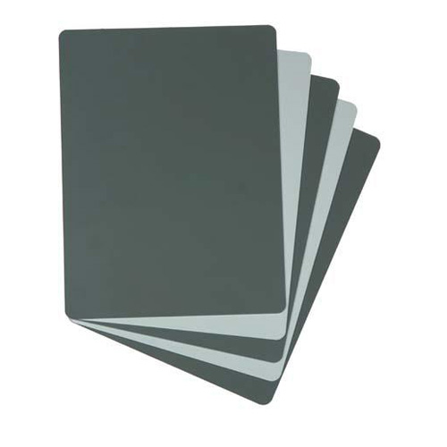 Zebra 2 Sided Grey Card  18 Grey / White  6 x 8 in.