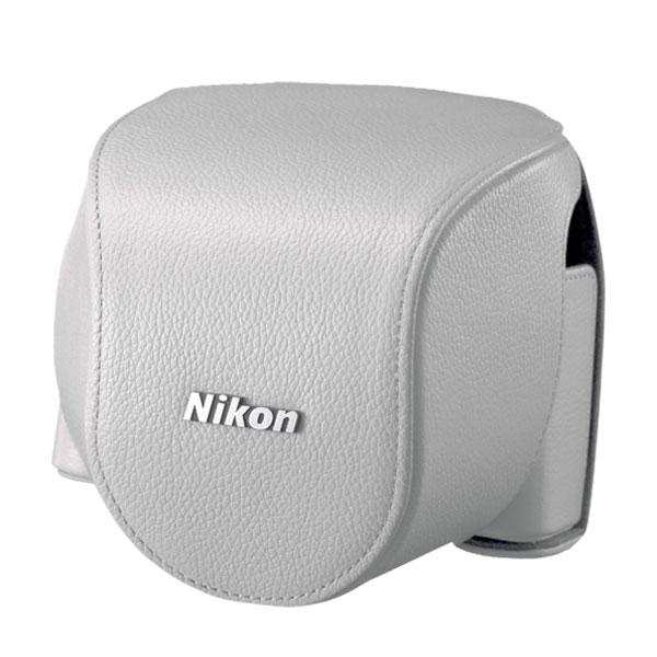 CB-N4000SA Leather Body Case for Nikon 1 V2 Cameras White