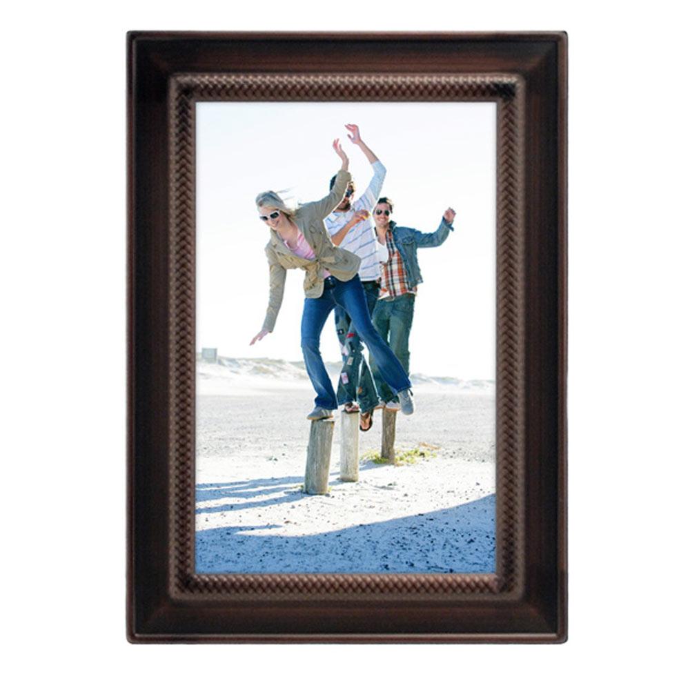 4x6 Weaver Photo Frame Bronze