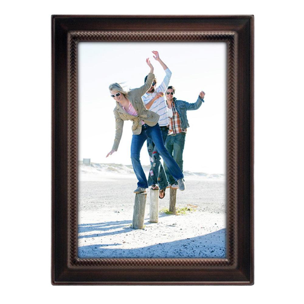 5x7 Weaver Photo Frame Bronze