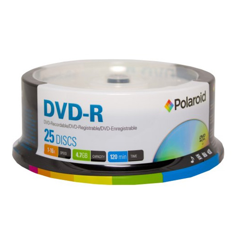 DVD-R 4.7GB/120-Minute 16x Recordable DVD Disc 25-Pack Spindle