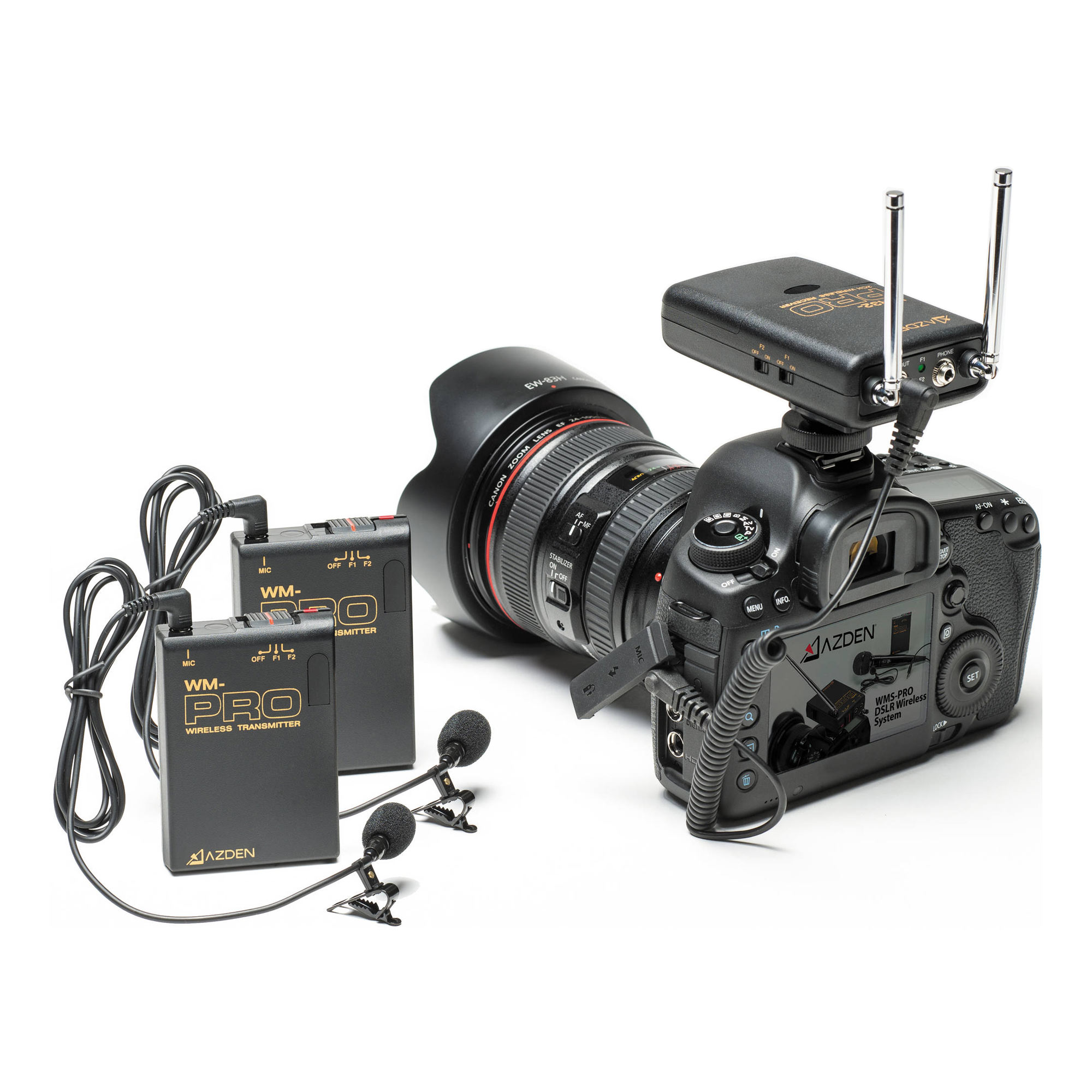 WR32-Pro VHF Dual-Channel Receiver for DSLR 169.445 and 170.245 MHz