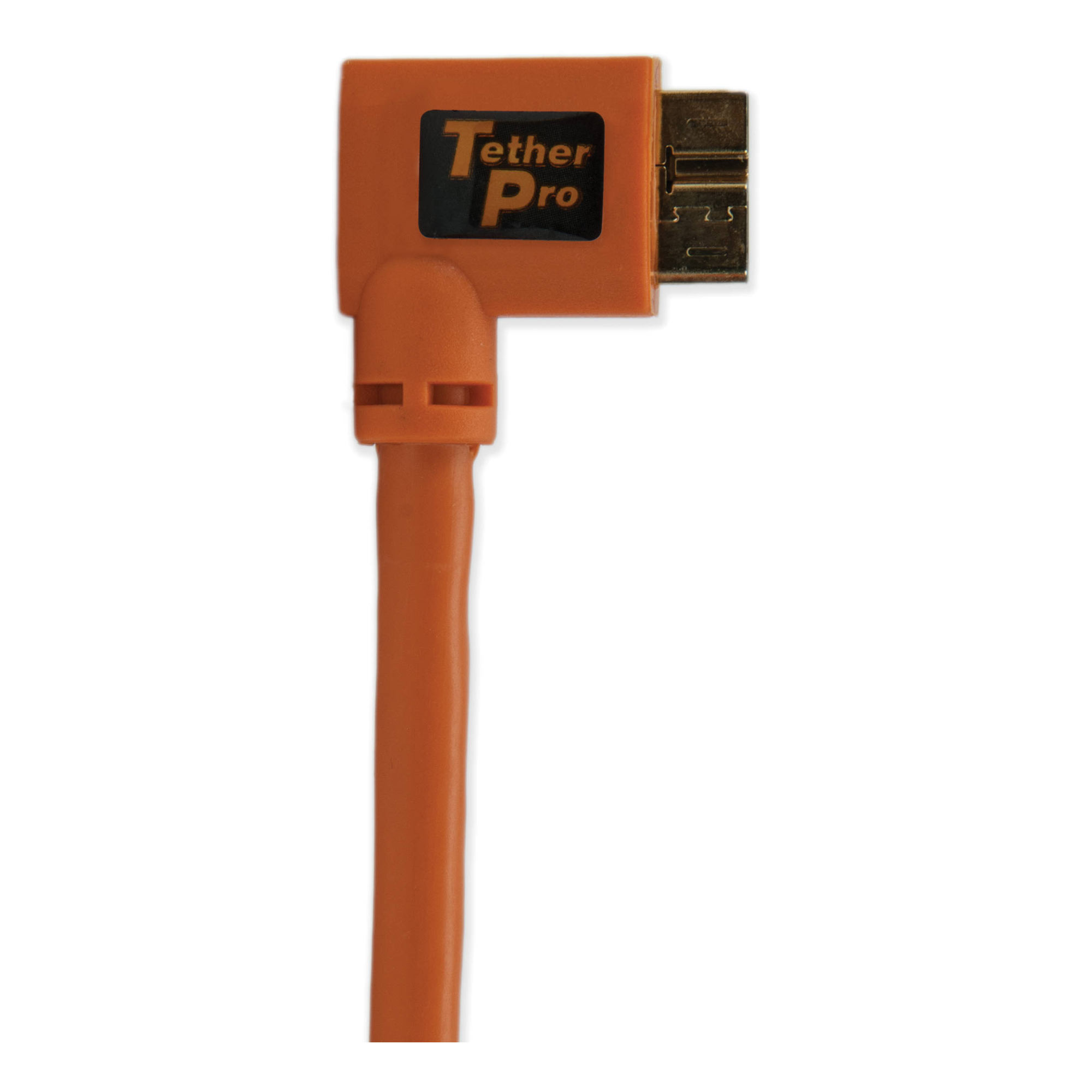 15 ft. TetherPro USB 3.0 Male A to Micro-B Right Angle Cable Orange