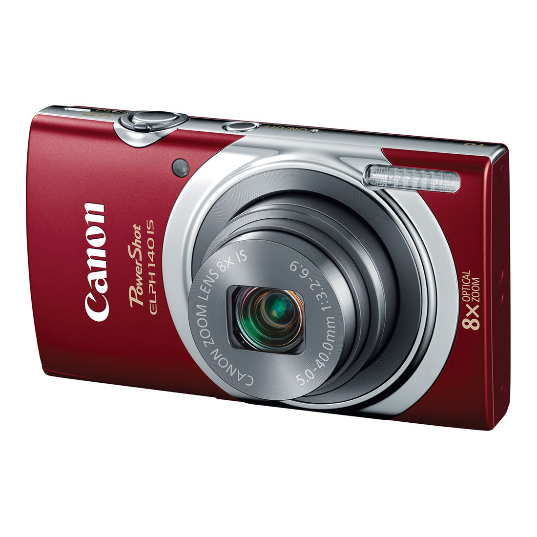 PowerShot ELPH 140 IS Digital Camera (Red)