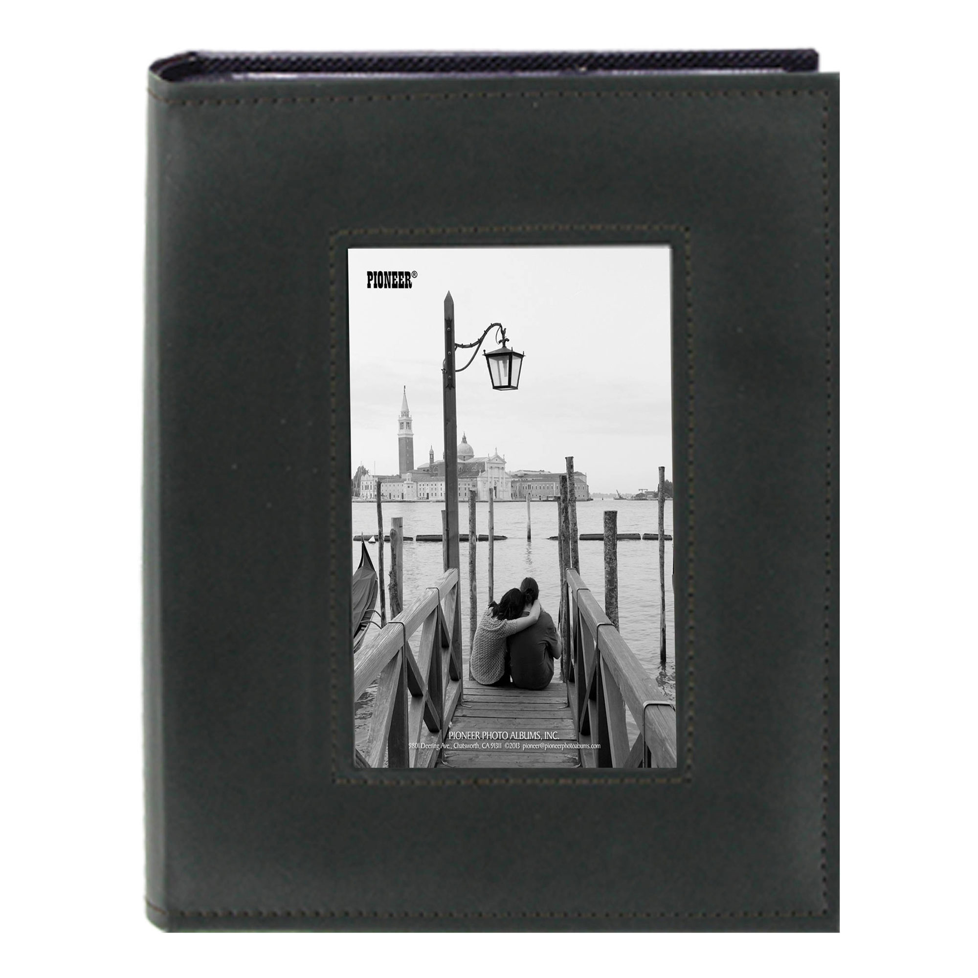 Image of Pioneer 4X6-200 Sewn Frame Photo Album Cutout (Black)