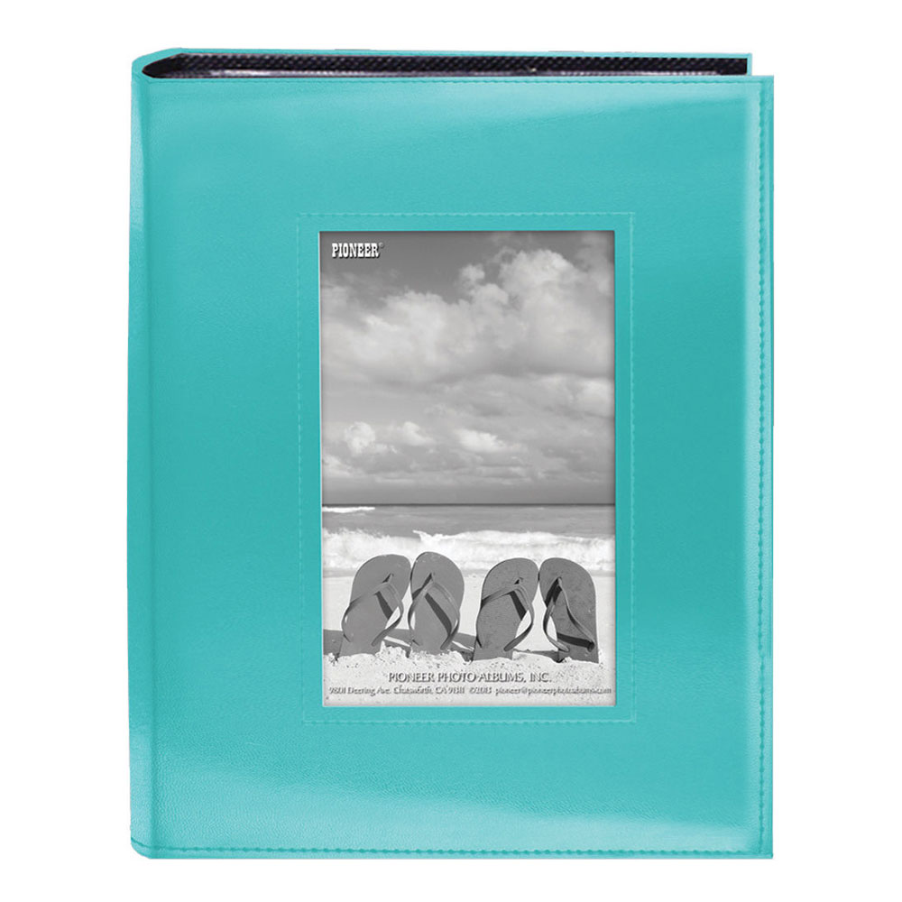 Image of Pioneer 4X6-200 Sewn Frame Photo Album Cutout (Blue)
