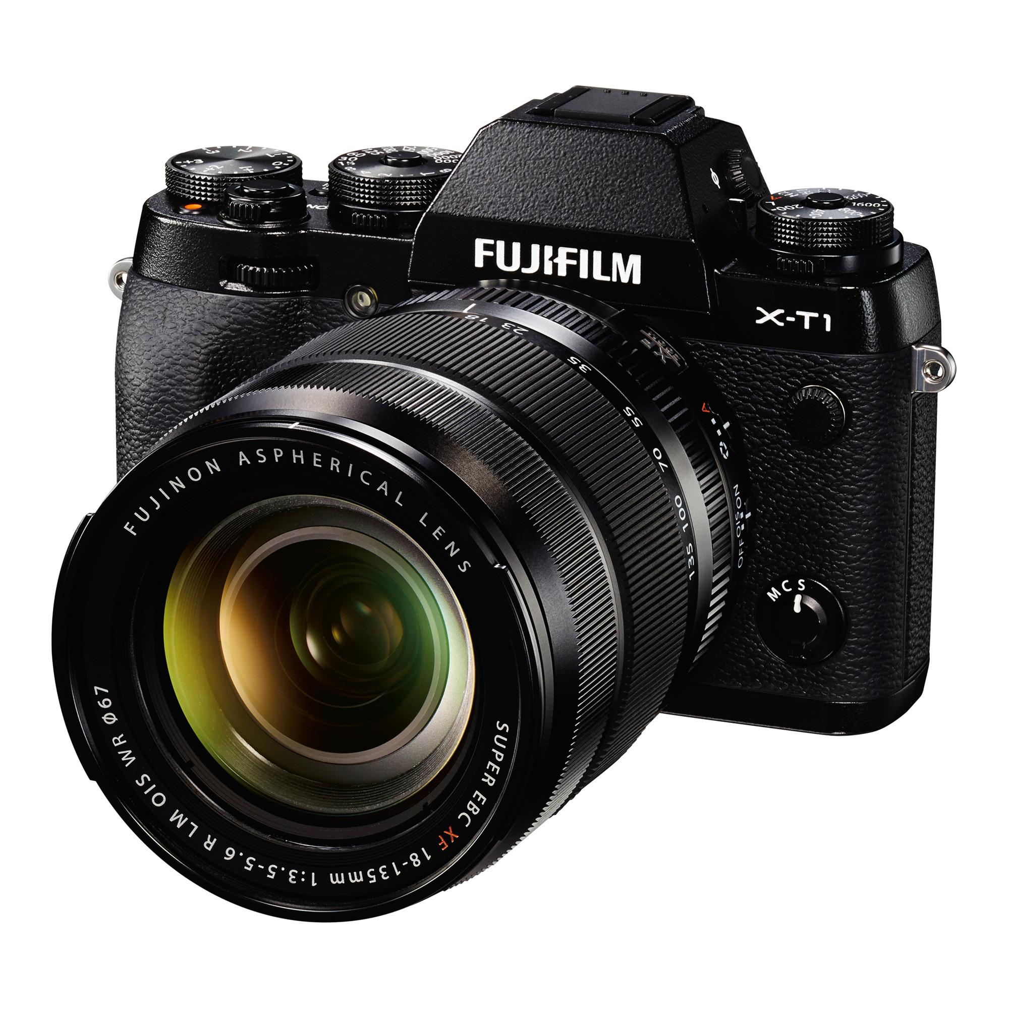 Image of Fujifilm X-T1 Mirrorless Digital Camera with 18-135mm Lens (Black)