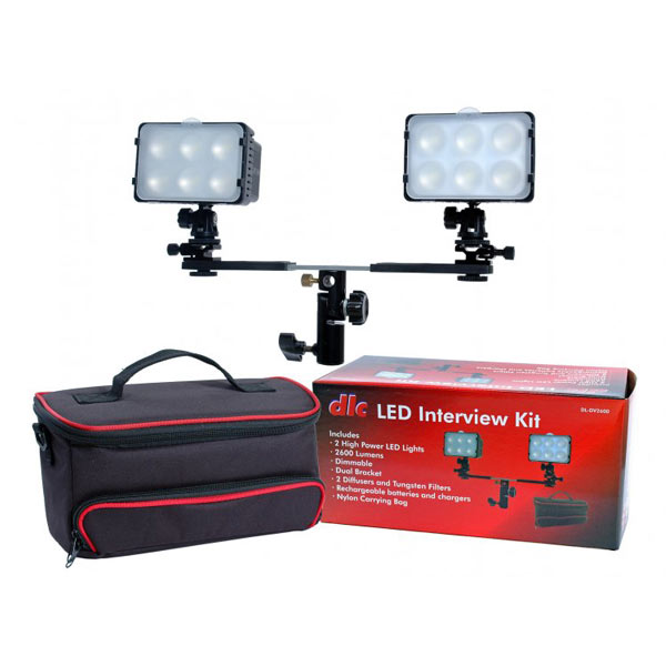 Image of Dot Line Corp. LED 2-Light Interview Kit with Case