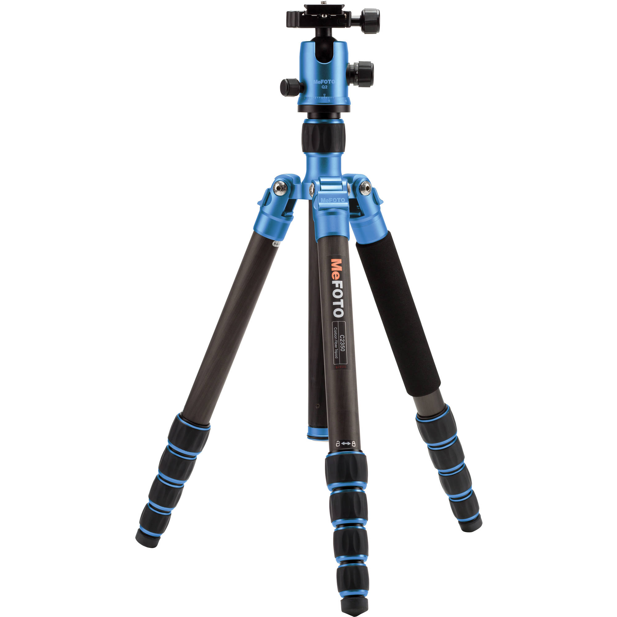 Image of MeFOTO GlobeTrotter Carbon Fiber Travel Tripod Kit (Blue)