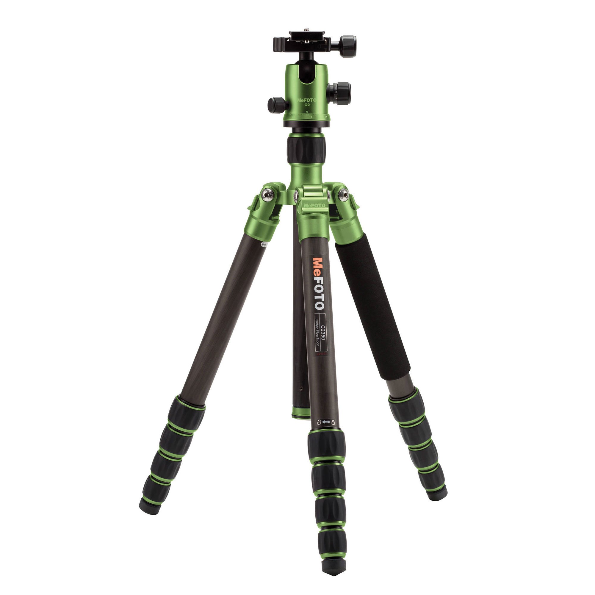 Image of MeFOTO GlobeTrotter Carbon Fiber Travel Tripod Kit (Green)