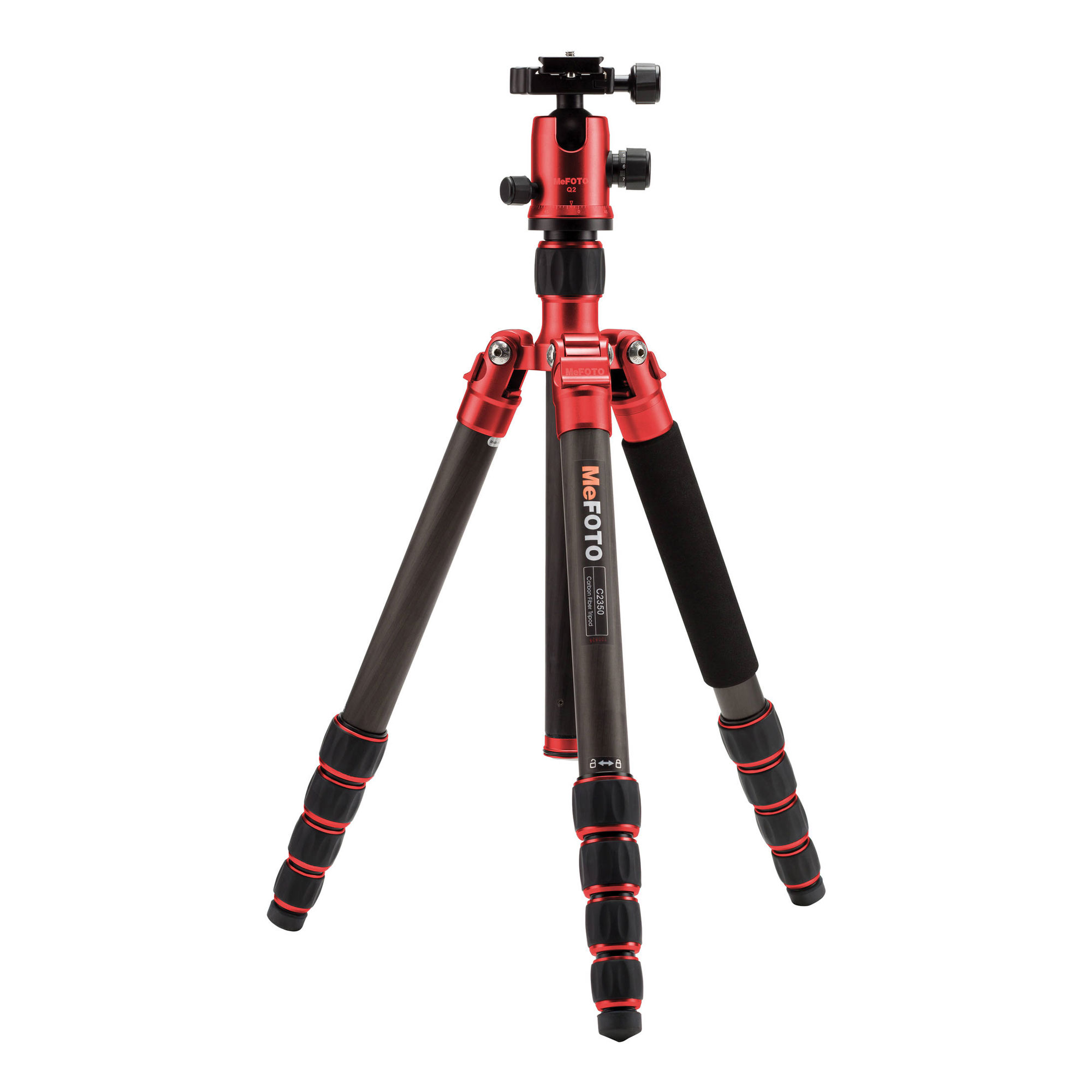 Image of MeFOTO GlobeTrotter Carbon Fiber Travel Tripod Kit (Red)