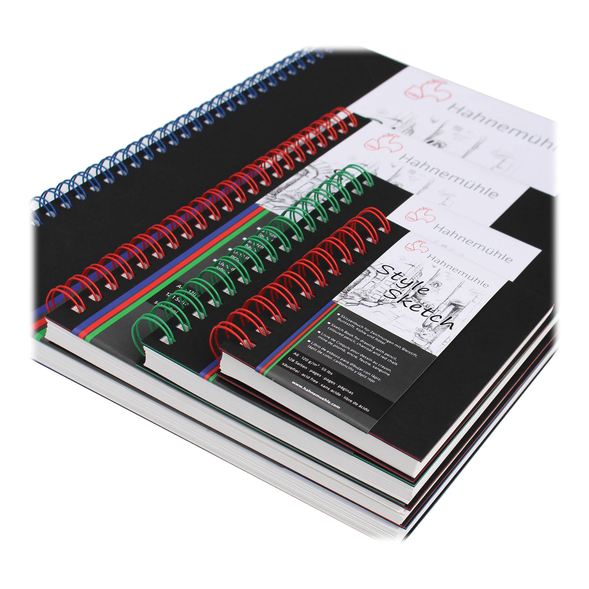 Image of Hahnemuhle A5 Size Style Sketch Book (64 Sheets Blue Spiral)