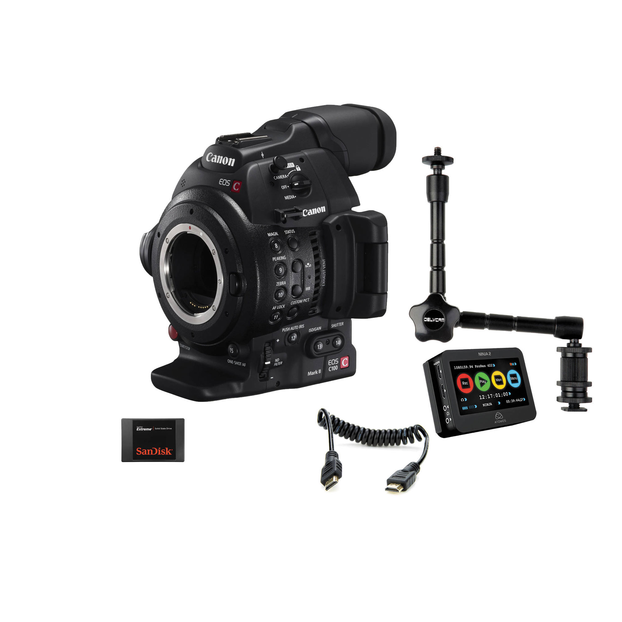 Canon | EOS C100 Mark II Cinema EOS Camera and Atomos Ninja