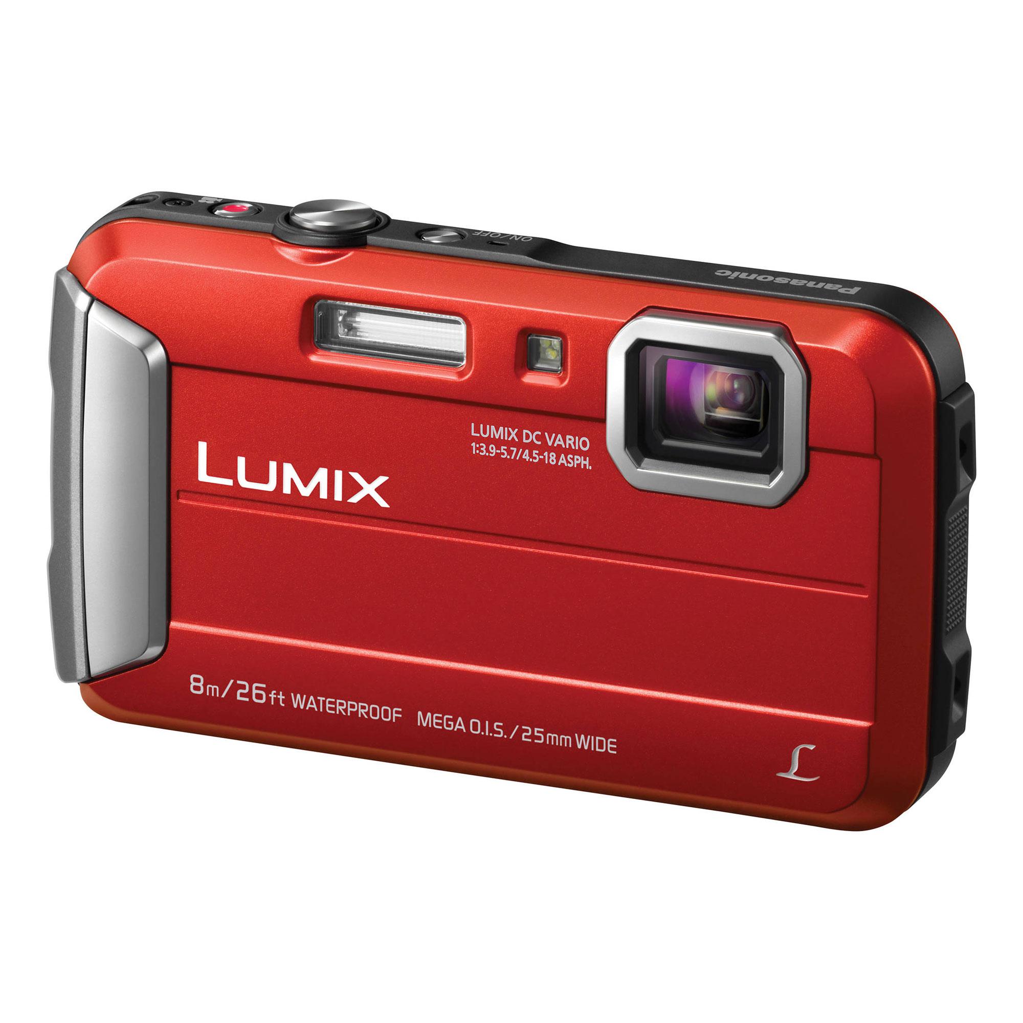 Panasonic Lumix DMC-TS30 Digital Camera (Red)