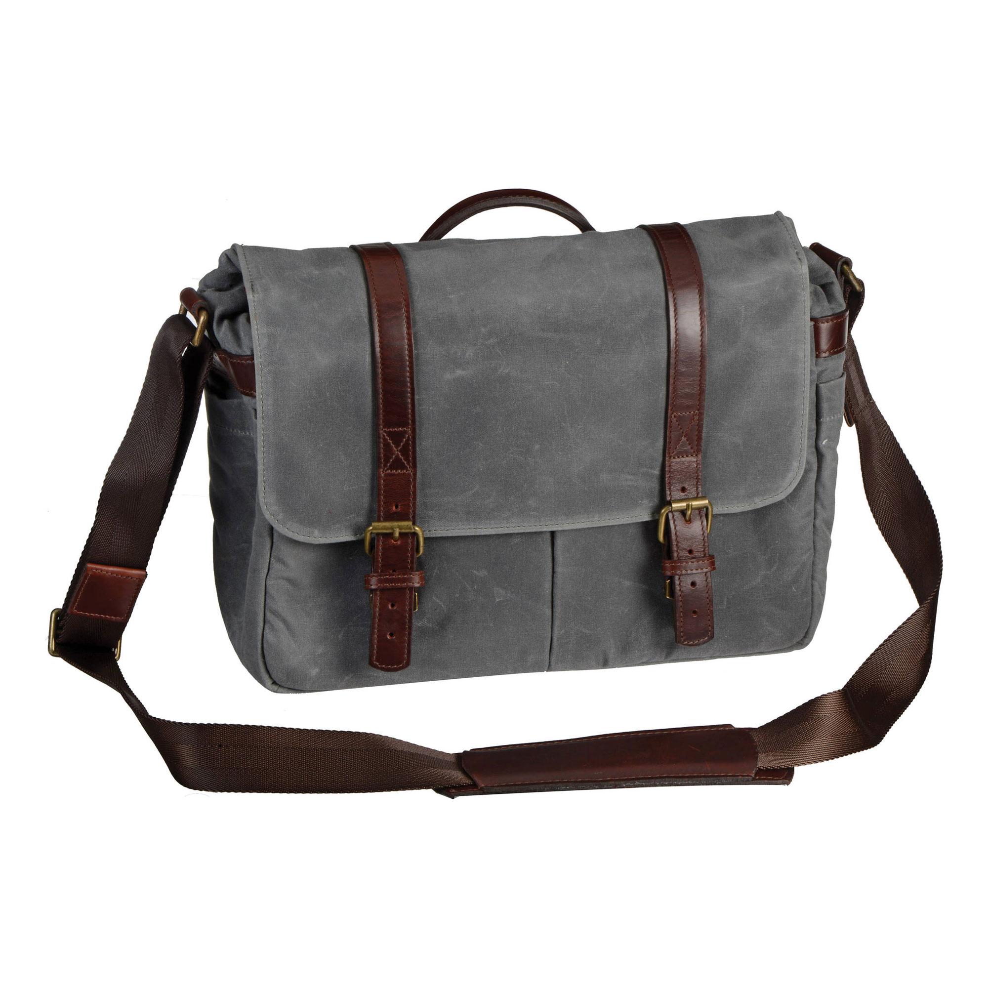 Image of Ona Bags The Brixton Camera/Laptop Messenger Bag (Smoke)