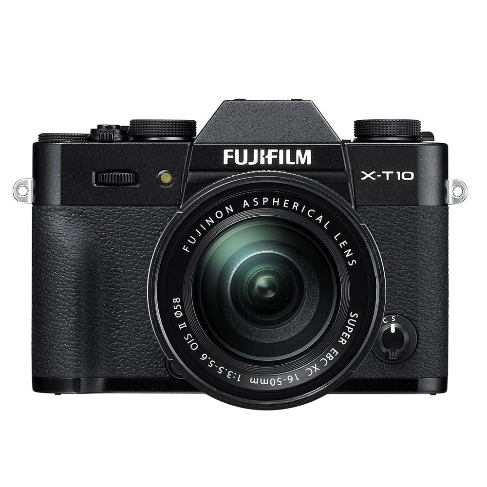 Image of Fujifilm X-T10 Mirrorless Digital Camera with 16-50mm Lens (Black)