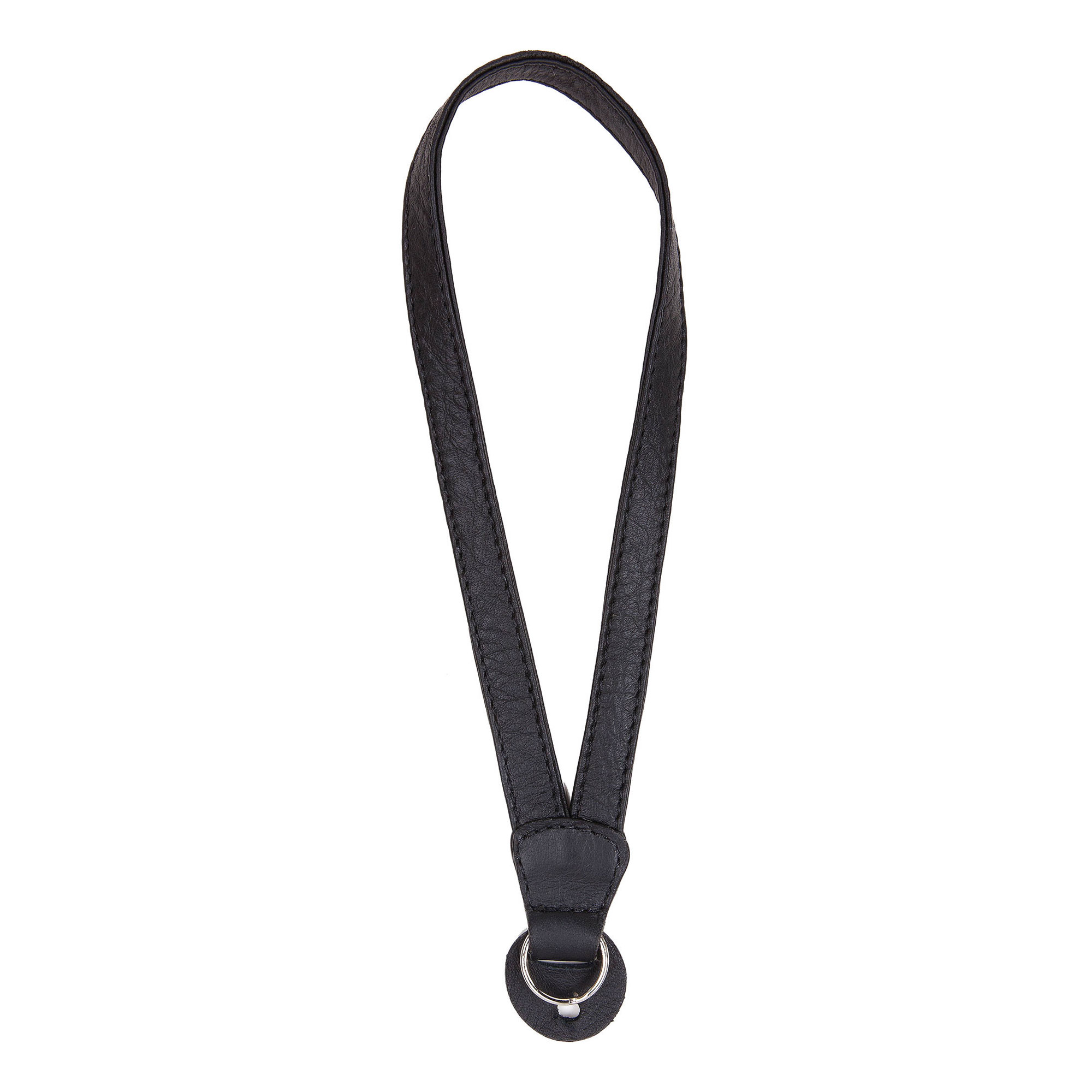 Image of Cecilia Gallery Leather Camera Wrist Strap with Ring Tethering (Black)
