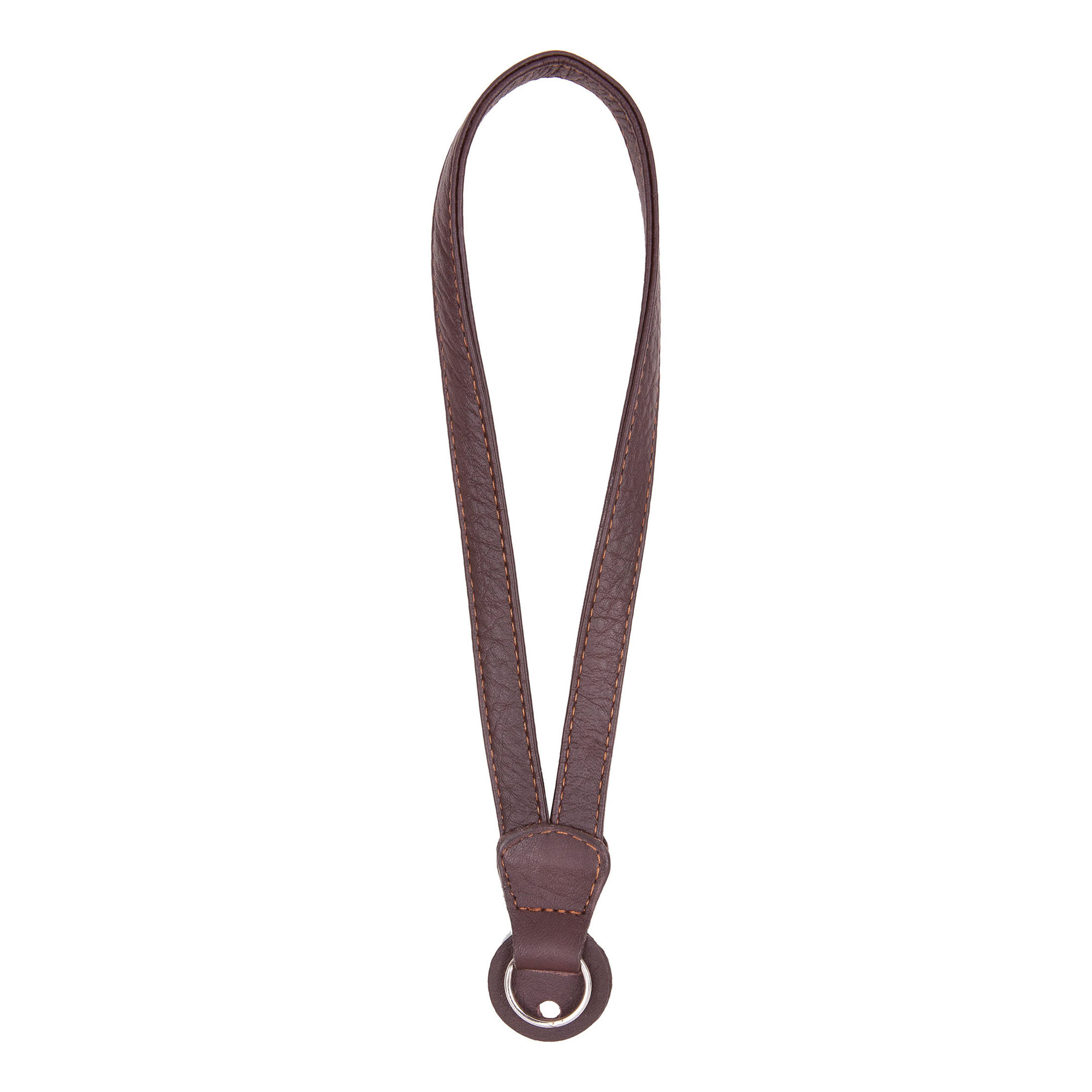 Image of Cecilia Gallery Leather Camera Wrist Strap with Ring Tethering (Brown)